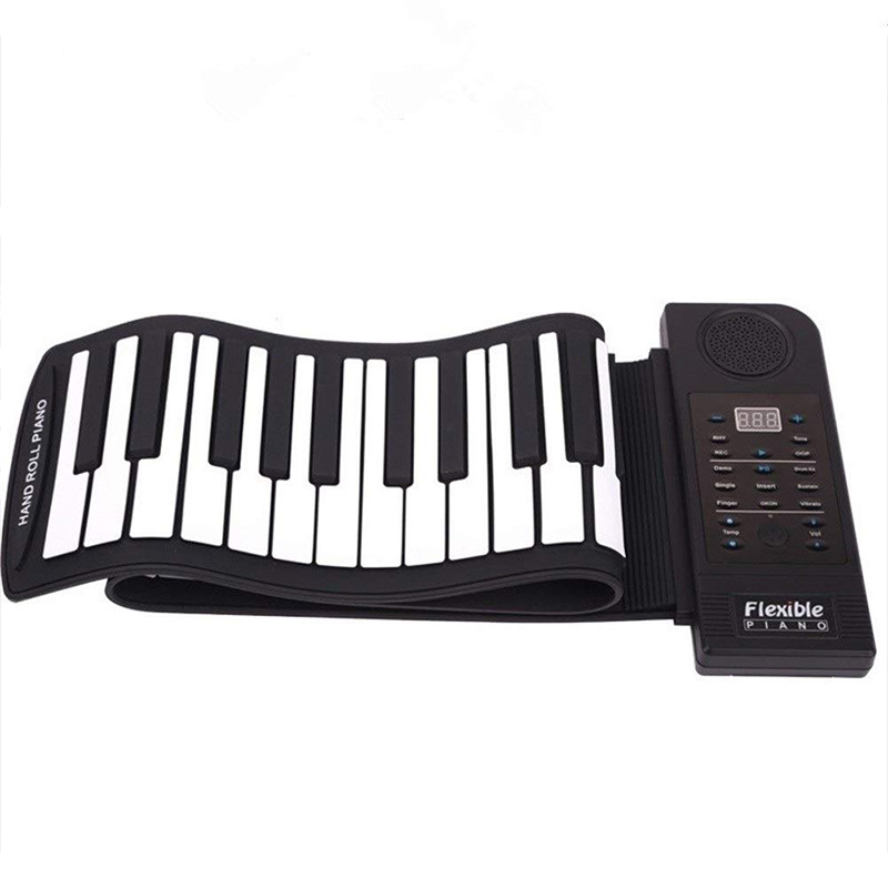 Hand Roll Piano 61 Key Smart Bluetooth Transpose Portable Professional Edition Piano Keyboard