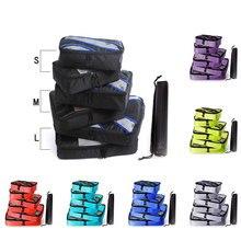 Men Women Packing Cubes Travel Luggage Organizer Waterproof Double Zip Packing Cubes Nylon Hand Luggage Travel Bag Men Women