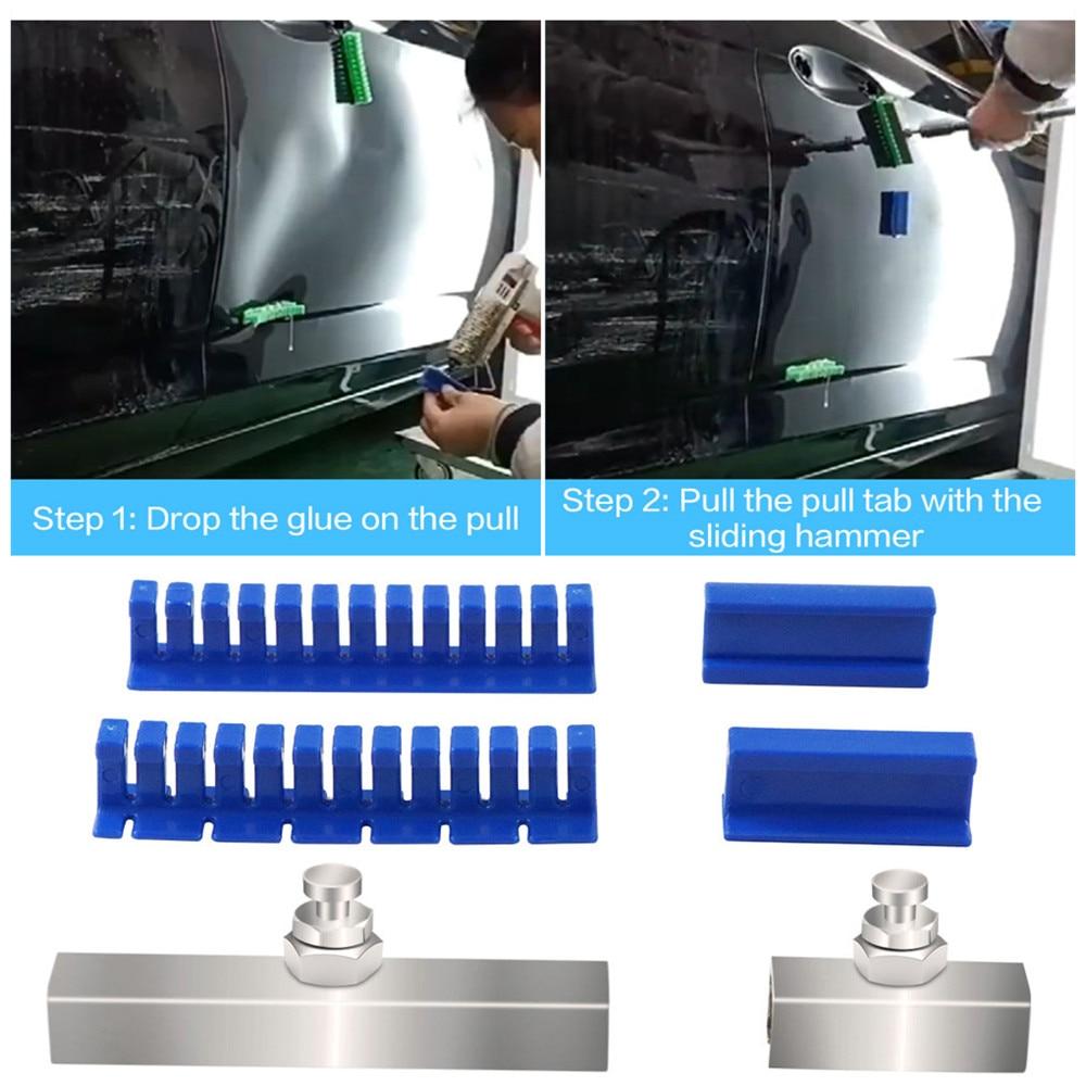 PDR Tools Car Body Repair Tool Dent Hail Dent Repair Tools Kit Flexible Tabs For Slide Hammer Paintless Dent Repair