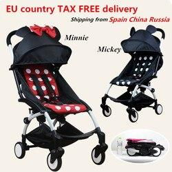 Original yoyanoble carrinho de bebê carrinho de bebê carrinho de carrinho de carro dobrável bebek arabasi buggy leve carrinho de criança