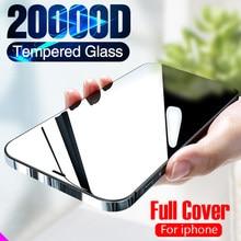 2 pçs vidro de cobertura completa no para o iphone x xs max xr 12 vidro temperado para o iphone 7 8 6s plus se 2020 11 pro protetor de tela