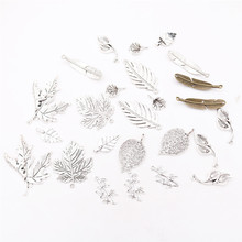 8pcs/lot Leaves Pendant, Maple Leaf Charm, Sycamore Leaf Charm, Lily Leaf Charm, Ginkgo Leaf Charm,DIY Handicraft Making P2