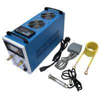 Nuevo 2800W ZVS calentador de inducción horno de fundición para metal enfriamiento del metal equipo de potencia ajustable + control de temperatura de 1-1000 ° C
