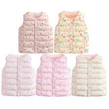 Vest Baby Waistcoat Sleeveless Print Outfits Outwear Toddler Girls Boys Boys