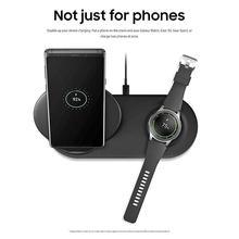 Bezprzewodowa ładowarka Duo Dock podwójna EP N6100TBCGCN szybkie ładowanie dla Galaxy Note 9 8 S9 S8 + zegarek Gear S3 szybkie ładowanie dla Samsung