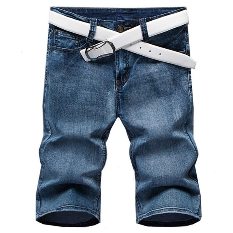 2019 Zomer Mode Nieuwe Mannen Casual Straight Denim Shorts/mannen Mid-rise Denim Shorts