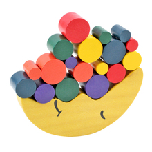 Kids Wooden Toys Moon Balancing Game Kids Educational Toys For Children Wooden Building Blocks Baby Children Christmas Gift wooden toys balance game interactive children parent educational toys for baby kids coordination learning balancing game gift