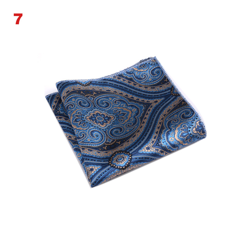 High Fashion Pocket Square Grid Handkerchief Men Accessories Polyester Hanky Solid Color Towel Mouchoir Black White 22cm*22cm