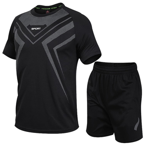 Мужской спортивный костюм 7XL 8XL, летний комплект из двух предметов, футболка и шорты, спортивный костюм для тренировок в тренажерном зале