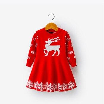 BBSMLIN Disfraz Navidad Bebe Ni/ña Estampado de Ciervo Tul Vestido Casual Ropa de Conjunto