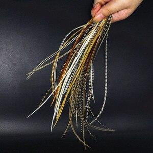 Image 3 - Nowy gorący Whiting wiązanie muchowe pióro 20 piór mieszane kolory NAT rozmiar12 # 14 # sucha mucha wiązanie muchowe chudy kogut siodło hackles 6 9 długi