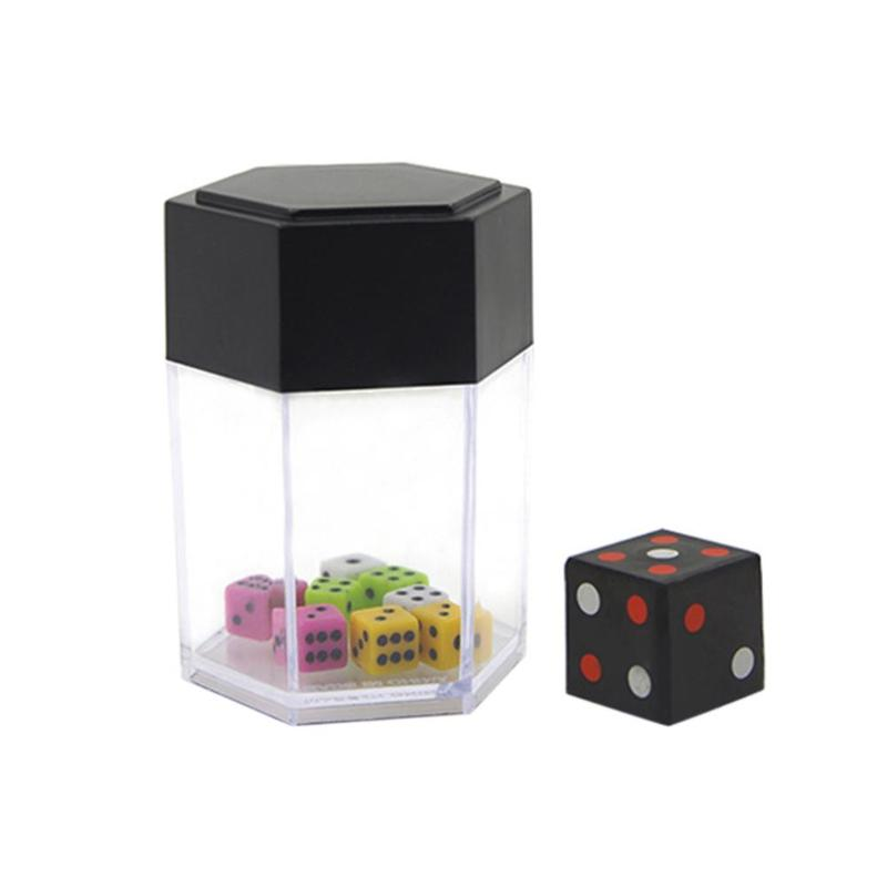 Big Explosive Dice Colorful Plastic Dice Toys For Magic Trick Prank Props Stress Relief Toy Anti Anxiety Magic Cube