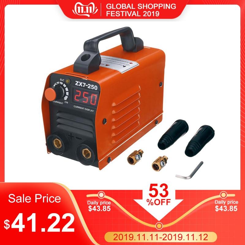 ZX7 250 250A мини Электрический сварочный аппарат портативный цифровой дисплей MMA ARC DC инвертор пластик сварочное оборудование