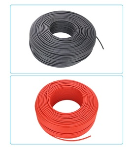 Image 2 - 1 Pair 4mm 2.5squar Solar Panel Photovoltaic Cable Copper Wire Black and Red with Waterproof Connector Solar PV Cable 6/4/2.5 mm