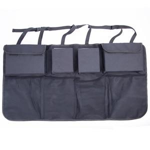 Image 2 - Car Trunk Organizer Adjustable Backseat Storage Bag Net High Capacity Multi use Oxford Automobile Seat Back Organizers Universal