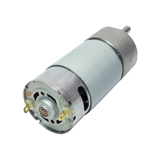 37GB555 DC Gear Motor 12V High Speed 100/280/460/900Rpm Electric Reduction Metal Gear-box DIY Engine RC Smart Car Robot