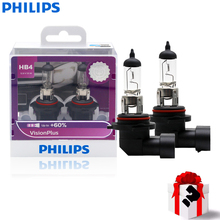 Headlight Philips Bulbs Car HB4 Halogen 12V 55W 3250K More-Vision ECE Approve Motorcycle