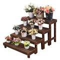 Palier Type multi-étages bois fleur Airs échelle vert Luo étagère à fleurs tête en bois massif balcon étagère à fleurs