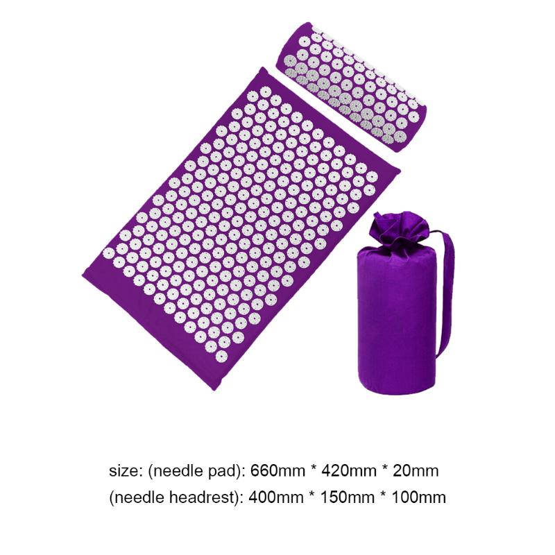 Acupressure Massage Mat with Pillow set to body Relaxation to Release Stress and Tension 36