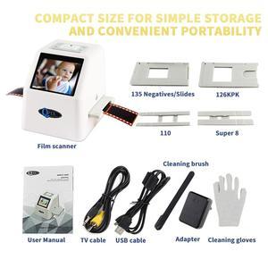 """Image 5 - High Resolution 22 MP 35mm Negative Film Scanner 110 135 126KPK Super 8 Slide Film Photo Scanner Digital Film Converter 2.4""""LCD"""