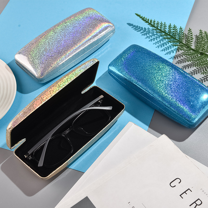 Fashion Cute Rainbow Color Sunglasses Case For Women Reading Glasses Box Matel Hard Cover Eyeglasses Protector Spectacel Eyewear