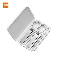 Xiaomi Mijia 5 Stks/set Manicure Nagelknipper Pedicure Set Draagbare Reizen Hygiëne Kit Rvs Nail Cutter Tool Set