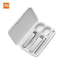 Xiaomi mijia 5 pièces/ensemble manucure coupe ongles pédicure ensemble Portable voyage hygiène Kit acier inoxydable coupe ongles ensemble doutils