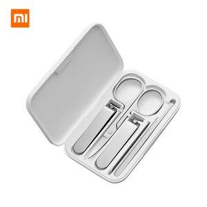 Image 1 - Xiaomi mijia 5 sztuk/zestaw Manicure obcinacz do paznokci Pedicure zestaw przenośny zestaw higieny podróży zestaw narzędzi do cięcia paznokci ze stali nierdzewnej