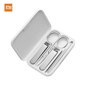 Image 1 - Набор для маникюра и педикюра Xiaomi mijia, 5 шт./компл., переносной дорожный гигиенический набор, набор инструментов для маникюра и педикюра из нержавеющей стали