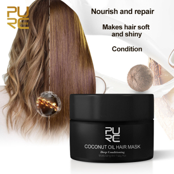 PURC 50ml Coconut Oil Hair Mask Repairs Damage Restore Soft  Keratin Hair Scalp Treatment Non-Steaming Nutrient Hair Care TSLM1 1