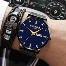 цена на Luxury Brand Military Sports Mens Watches Male Analog Date Week Crystal Quartz Watches Men Casual Stainless Steel Wrist Watch