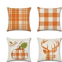 Pumpkin Printed pillow cushion cover kussenhoes Square Throw Pillowcase sofa home Thanksgiving Decor accessories fundas cojines