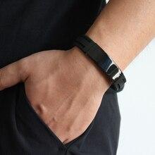 Bracelets Men Silcone Stainless Steel 2019 New Fashion Luxury Classic Trendy Bracelet Bangle For Jewelry Gift