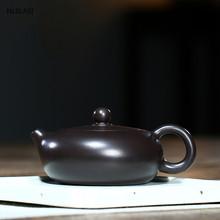 Yixing klasyczny dzbanek na herbatę purpurowa glina filtr Xishi czajniczek uroda czajnik surowa ruda Handmade zestaw herbaty niestandardowe prezenty autentyczne 180ml tanie tanio WSHYUFEI CN (pochodzenie) 151-200 ml Fioletowy gliny
