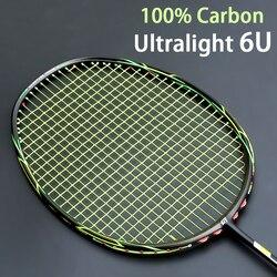 خفيفة 6U كامل كرة تنس ريشة من ألياف الكربون مضرب سلاسل مع أكياس باديل المهنية المضارب المضارب سرعة Z Force