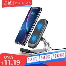 Беспроводное зарядное устройство KUULAA Qi 10 Вт для iPhone X XS 8 XR Samsung S9 Xiaomi, быстрая Беспроводная зарядная док станция, держатель для телефона, зарядное устройство