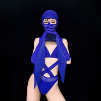 Sexy Gogo Dancer Costume Lace Bodysuit Ancient Chinese Costume Outfit Stage Clothes for Female Singers