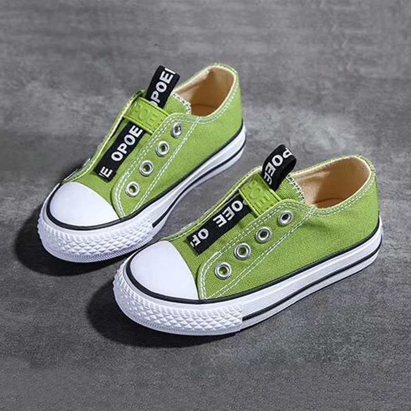 Canvas Sneakers Shoes For Girls 2020 Spring Autumn Kids Sneakers Casual Boys Shoes Candy Color Slip On Children Canvas Shoes