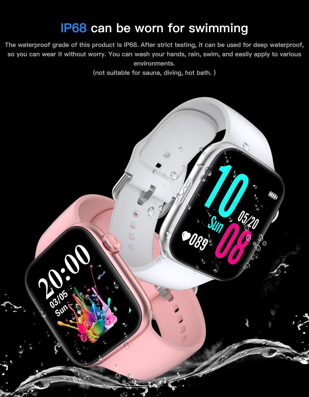 Hd314926471f9480093408d50362d67e20 ECG Heart Rate Monitor Smart Watch 2020 Full Touch Screen SE03