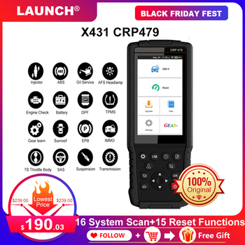 LAUNCH X431 CRP479 OBD2 Scanner 16 System Diagnostic 15 Reset Functions OBD 2 Scanner Automotivo Car Diagnostic Tools PK CRP429C launch x431 crp123i obd obd2 coder reader scanner 4 system diagnostic obd 2 auto scanner car diagnostic tool vs crp123x crp123e