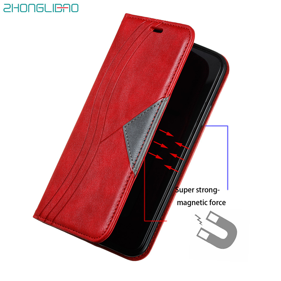 Magnetic Flip Case for Huawei P40 P30 P20 <font><b>Mate</b></font> 30 <font><b>20</b></font> Pro <font><b>Lite</b></font> Y5P Y6P Y7P Y6 Y7 P Smart Plus 2020 P40lite Leather Wallet Cover image