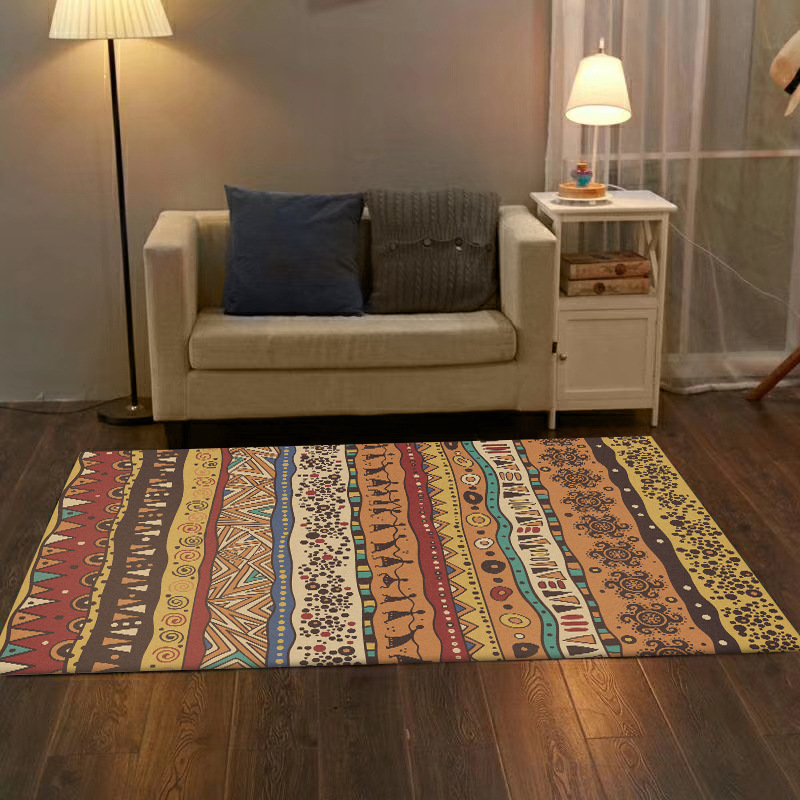 Persian Style Carpets Living Room Moroccan Geometric Bedroom Sofa Coffee Table Non-Slip Area Rug Study Room Home Decor Floor Mat
