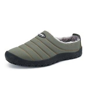Image 5 - Winter Men Shoes Warm Plush Slippers Men Outdoor Indoor Home Shoes Unisex Flip Flops Non slip Slides Casual Mule chanclas hombre