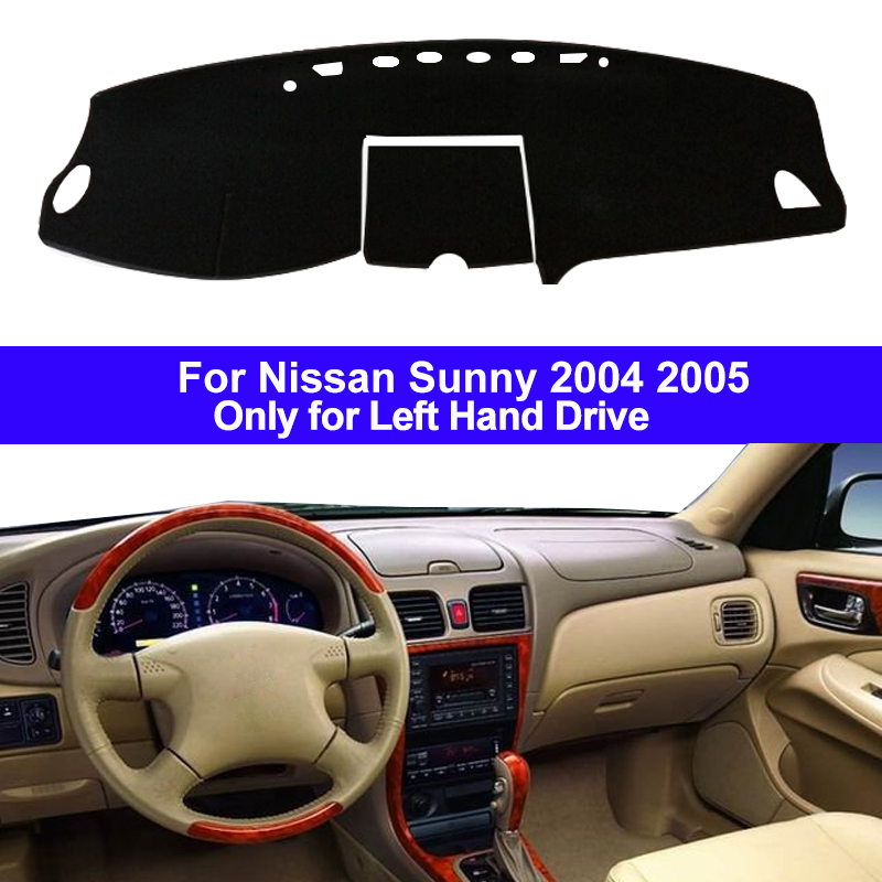 Car Inner Auto Dashboard Cover Dashmat Carpet Dash Mat Cushion Cape Sun Shade 2 Layers For Nissan Sunny 2004 2005