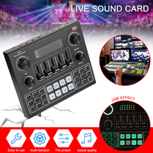 V9 Audio Studio Sound Card 3.5mm Microphone Headset Live Broadcast Bluetooth Sound Adapter for Phone Computer Tablets