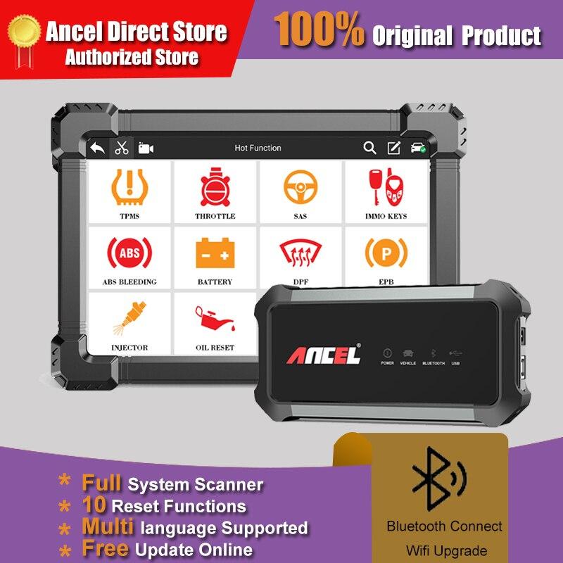 ANCEL X7 Профессиональный OBD2 сканер TPMS DPF ABS Сброс масла полная система Bluetooth Сканирование двигателя OBD 2 инструменты диагностический автоматиче...