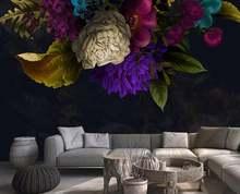 Пользовательские обои для стен цветы гостиной спальни кухни