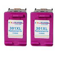 Remise à neuf pour HP 301XL 301 XL cartouche d'encre tricolore travail avec HP Deskjet 1000 1010 1050 1510 2050 2050A 2540 imprimantes