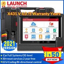 Lansmanı X431 V PRO 4.0 tam sistem otomatik tarayıcı otomotiv OBD2 teşhis aracı ECU kodlama 30 + sıfırlama hizmeti 10000 + araba modelleri
