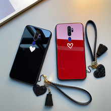 For Meizu M9 M8 M6 M5 Note Case Free strap Red Black Heart Hard Tempered Glass Cover For Meizu v8 x8 s6 E3 phone Casing goowiiz белый кот meizu m5 note